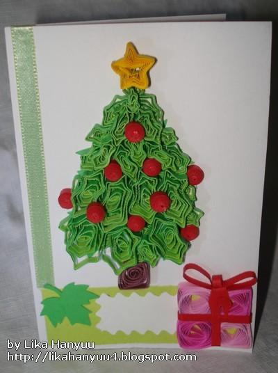 Aparador Antiguo Sevilla ~ Lika Hanyuu uff0d Artesanato Quilling [Quilling] Cart u00e3o comÁrvore de Natal e Presente