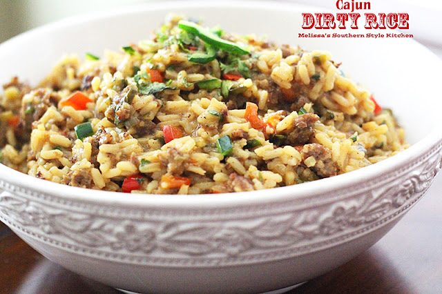 cajun rice or dirty rice is a traditional cajun rice pilaf and a ...