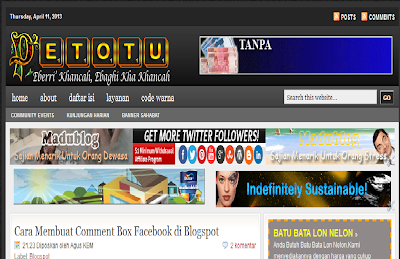 Sitelink Petotu Ngeblog Kembali Hilang, Template Seo Friendly, Template Cantik.