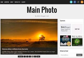 Main Photo Responsive Blogger Template