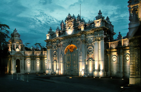 dolmabahce palace istanbul turkey exterior ataturk