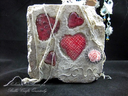Stone art Canvas styrofoam Powertex Roberta Birnbaum
