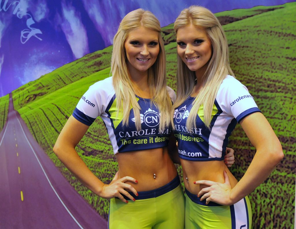 10. Motorcycle live NEC 2010. Twins-Sara & Kirsty Harden-Carole Nash Babes by Dennis Goodwin