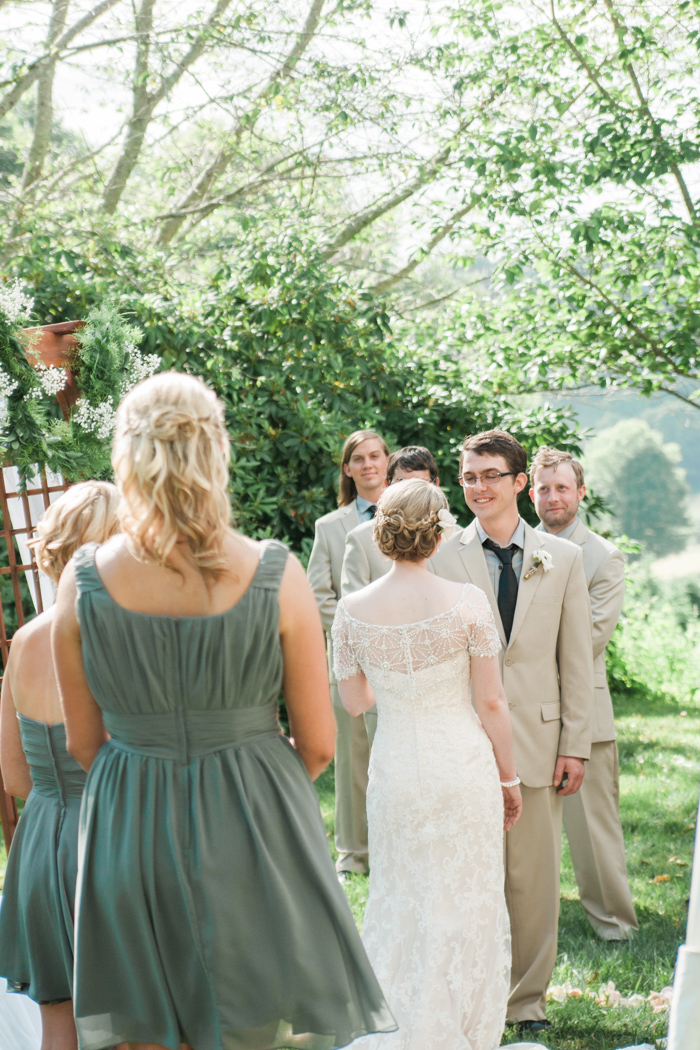 A Backyard Christmas Tree Farm NC Wedding Pictures - Boone Photographer