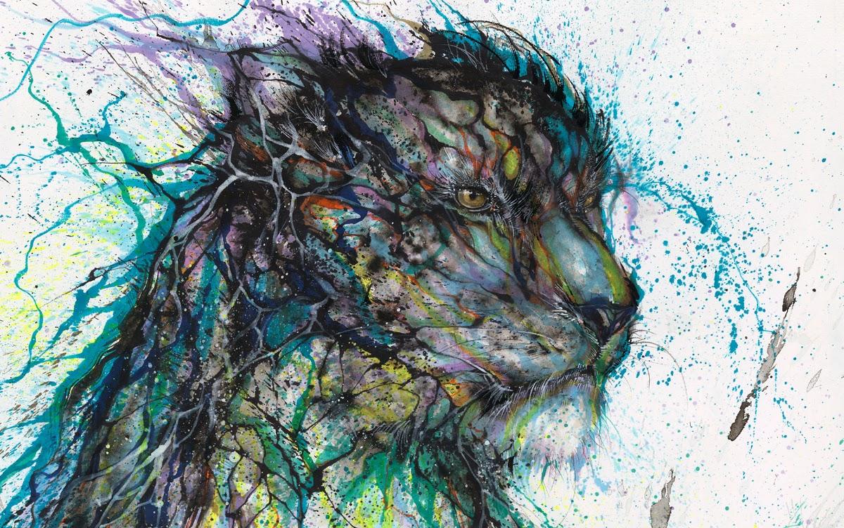 08-Leopard-2-Hua-Tunan-huatunan-Melting-&-Running-Ink-Drawings-www-designstack-co