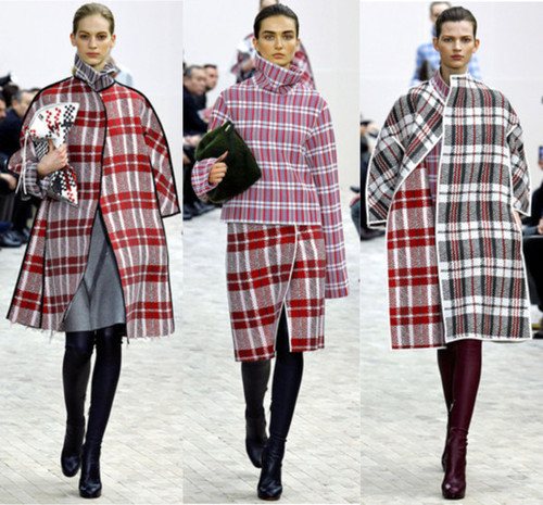 Celine Fall 2013, Trend, Trends, Plaid, Tartan, Runway, Looks, Patterns, Prints, Phoebe Philo