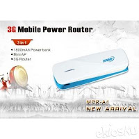 3G Mobile Power Router Hame MPR-A1 (3 in 1 : Power Bank, 3G Hotspot, Mini AP)