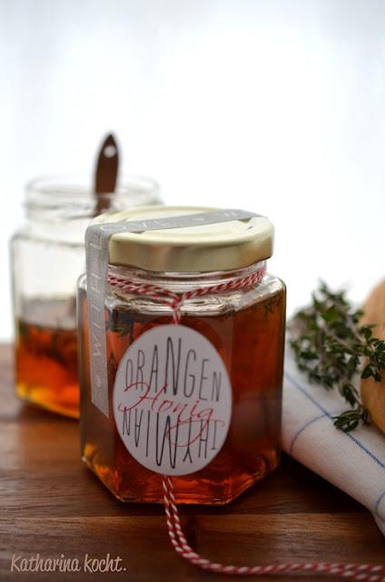 Orangen-Thymian-Honig auf www.katharinakocht.com