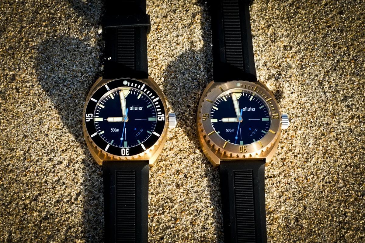Olivier bronze diver beached - Bronze dive watch ...