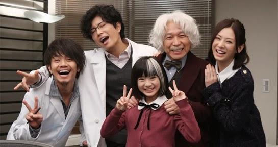 Smiling photo of cast members Kawamura Yosuke, Gackt, Kimura Manatsu, Kohinata Fumiyo and Kitagawa Keiko.