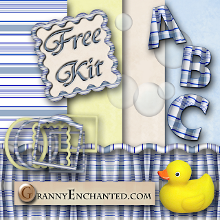 Free Bath Time Digi Scrapbook Kit