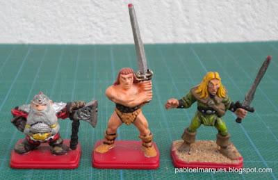 Enano, Barbaro y Elfo HeroQuest