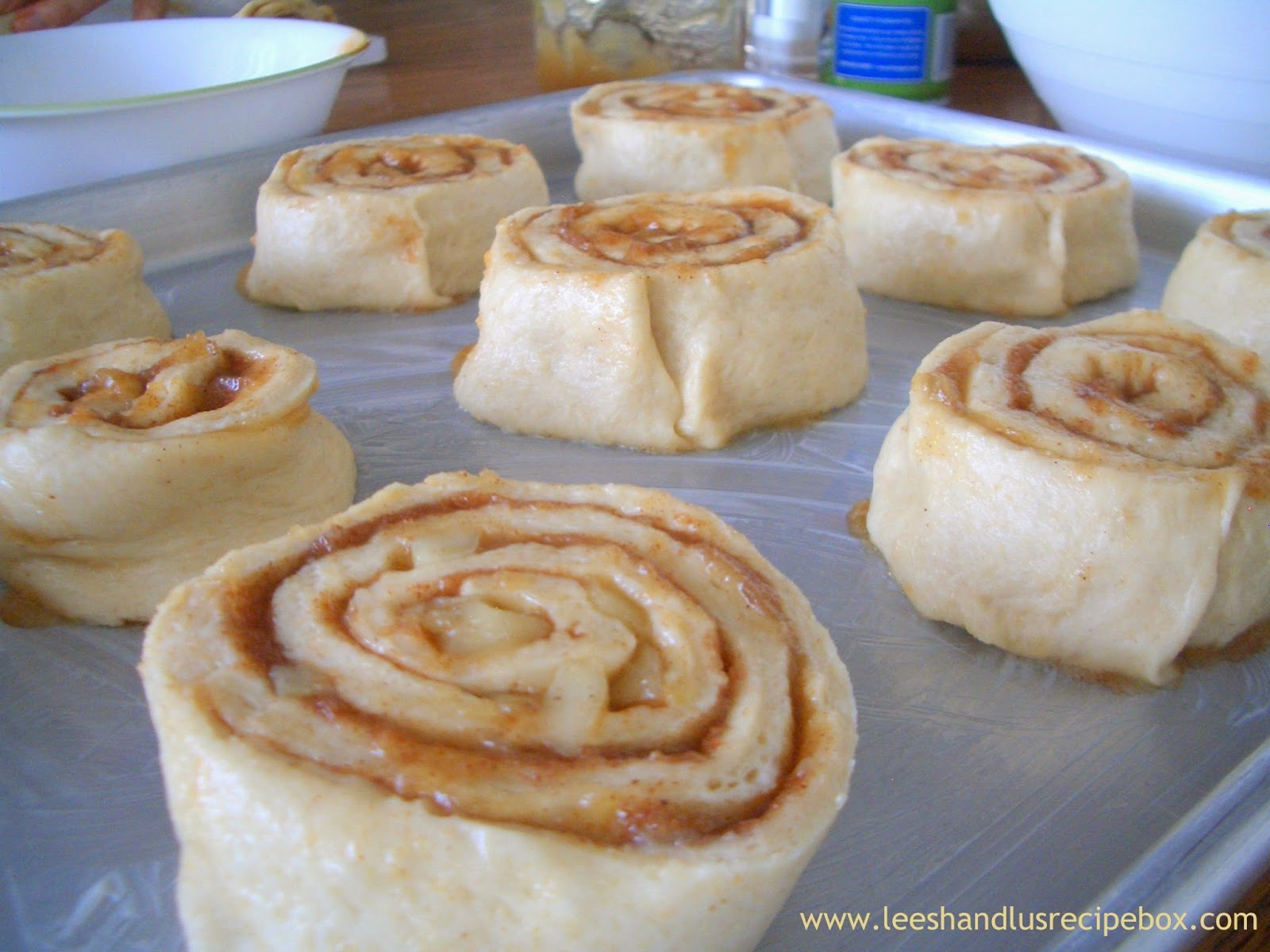 Caramel Apple Cinnamon Rolls | Leesh and Lu's Recipe Box