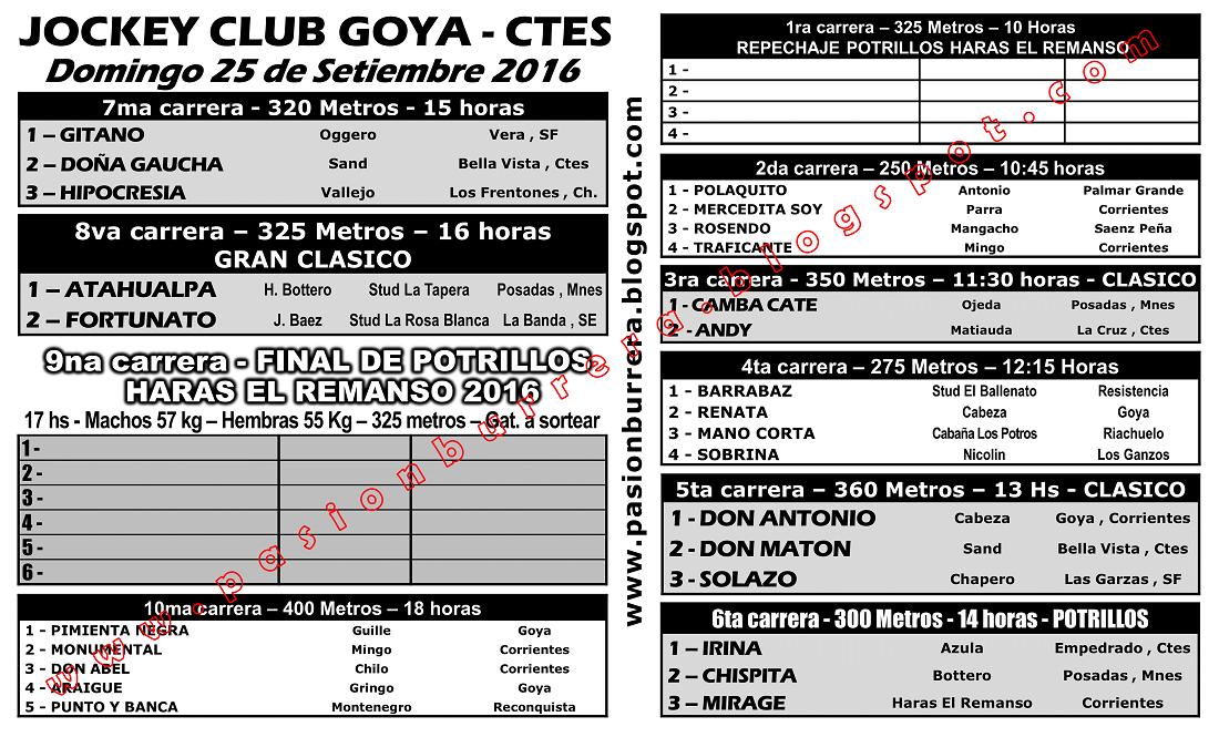 GOYA 25 - PROGRAMA
