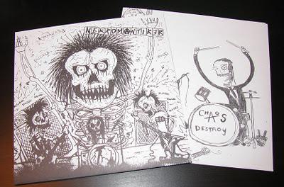 Nekromantiker - Chaos Destroy split EP