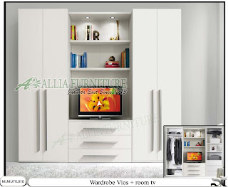 Lemari modern minimalis tv unit Vios