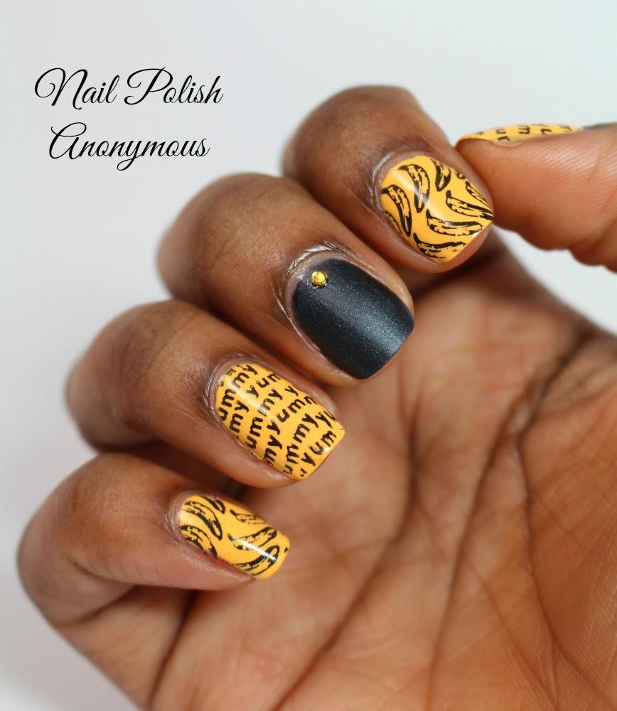 Nail Polish Anonymous Banana Stamping Nail Art