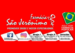 Siga a Farmácias São Jerônimo nas redes sociais