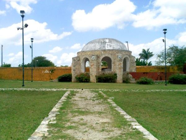 Quiosco Convento Conkal Yucatan Mexico