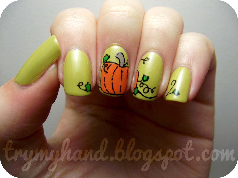 Try My Hand: Halloween Nails : Pumpkins