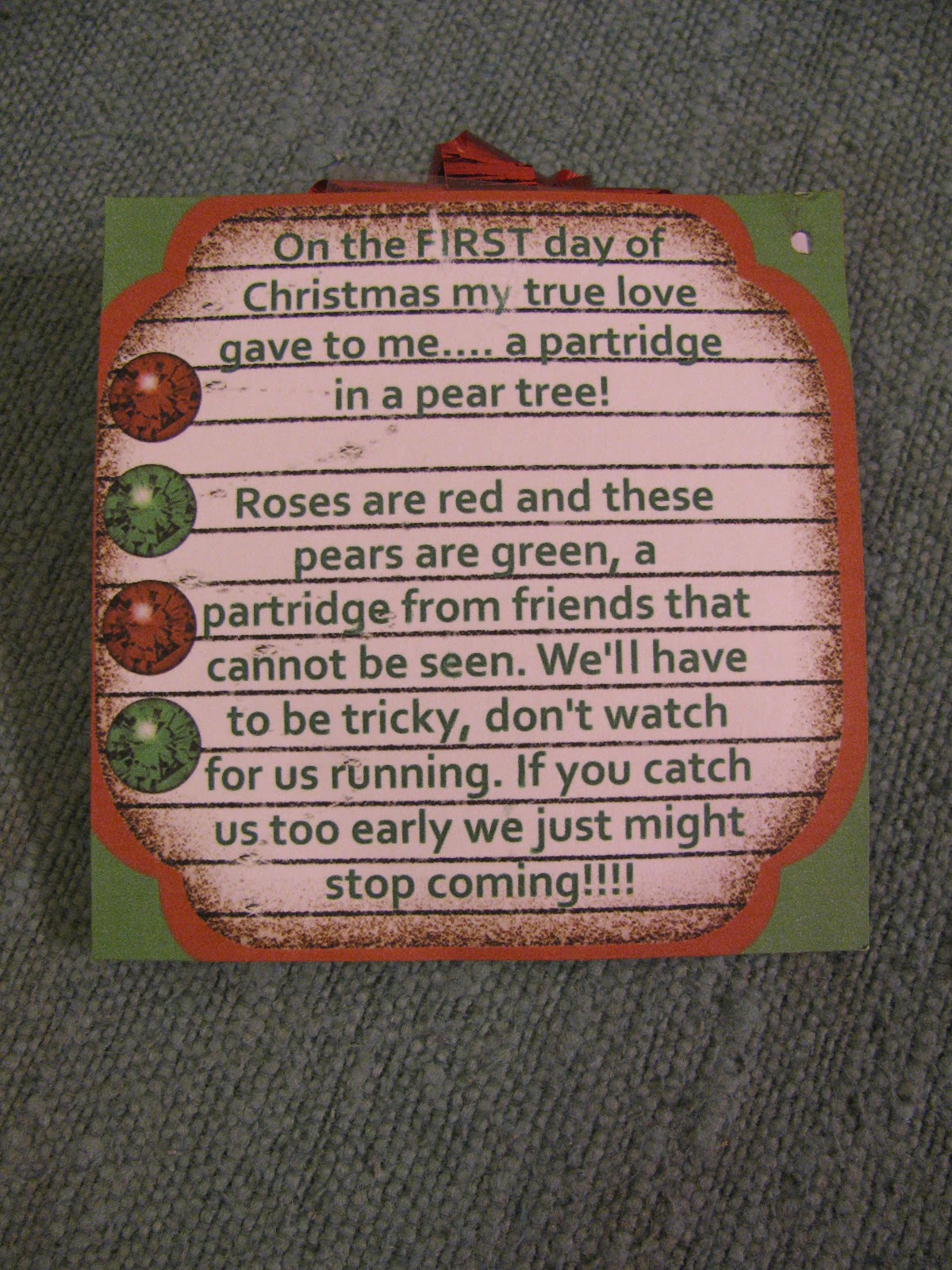 12 Days Of Christmas Rhymes For Gifts Part - 41: 12 Days Of ...