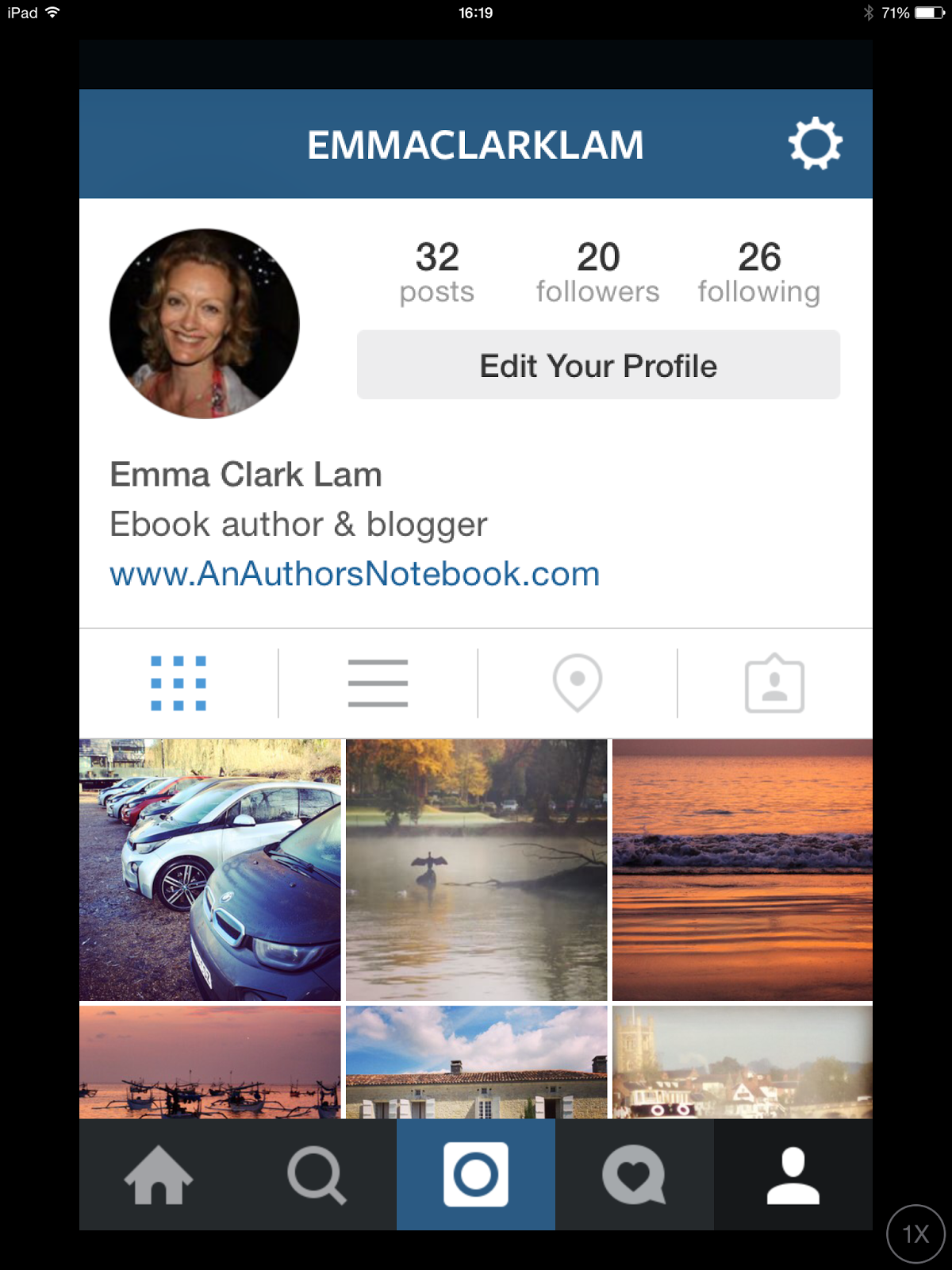 Photo grab of Instagram profile