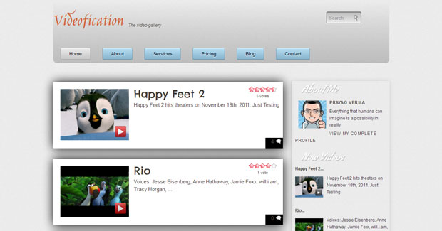 FREE Videofication Blogger Template