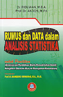 toko buku rahma: buku RUMUS DAN ANALISIS DATA DALAM ANALISIS STATISTIKA, pengarang riduwan, penerbit alfabeta
