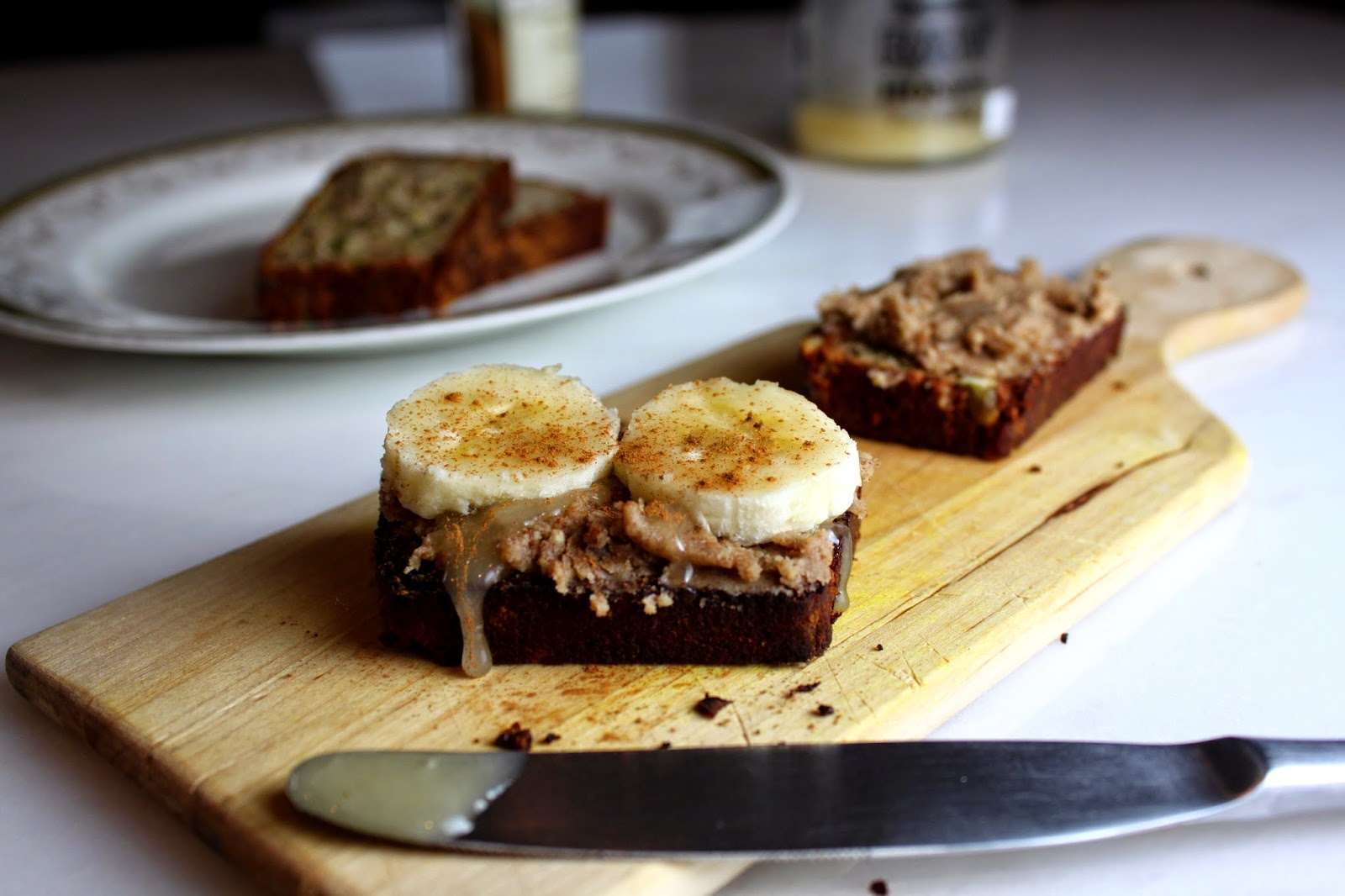Fat and Happy Blog: Yummy Walnut Butter and Banana Toast