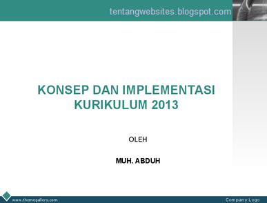 Konsep dan implementasi K2013