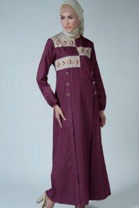 Manet Gamis 3198 - Ungu Coklat (Toko Jilbab dan Busana Muslimah Terbaru)