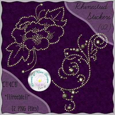 Free scrapbook elements rhinestud sticker from Breath of Rain Scraps