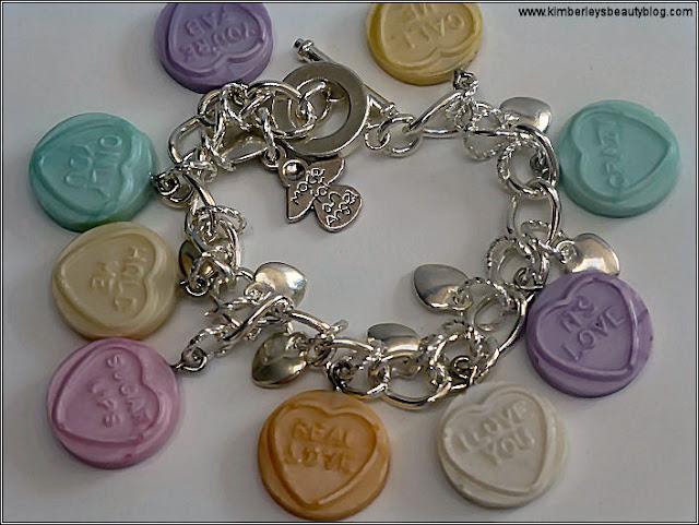 Handmade Love Heart Sweetie Charm Bracelet