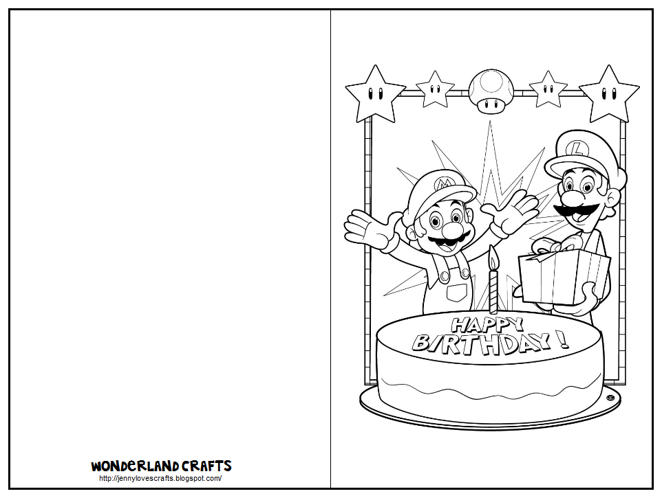 These Printable Cards Are Great For Kids. Just Click On The Image,  Right Click To Save, And Print Out. Have Them Color And Decorate The Card,  ...  Printable Birthday Card Template