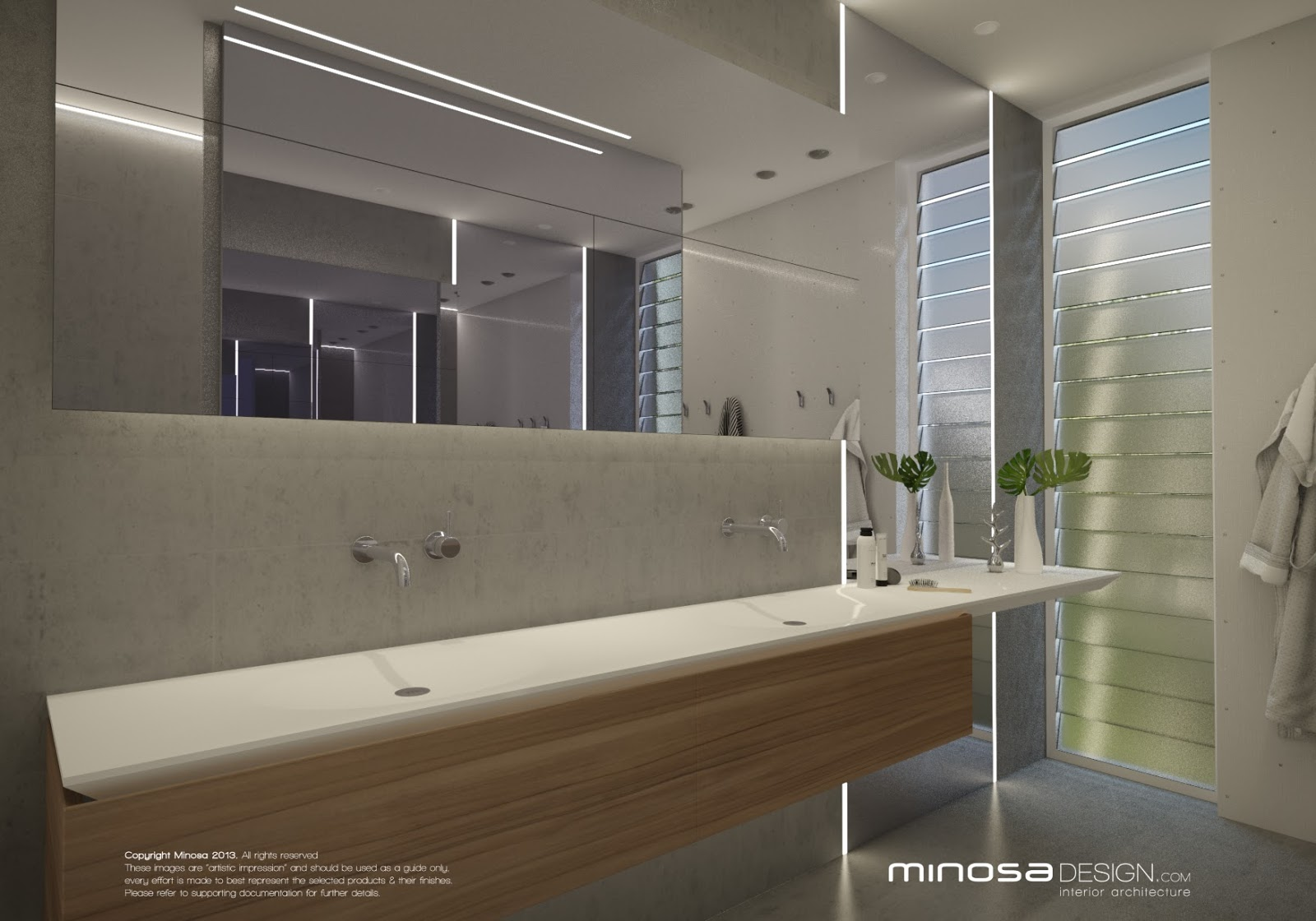 Minosa a main bathroom to share for Main bathroom designs