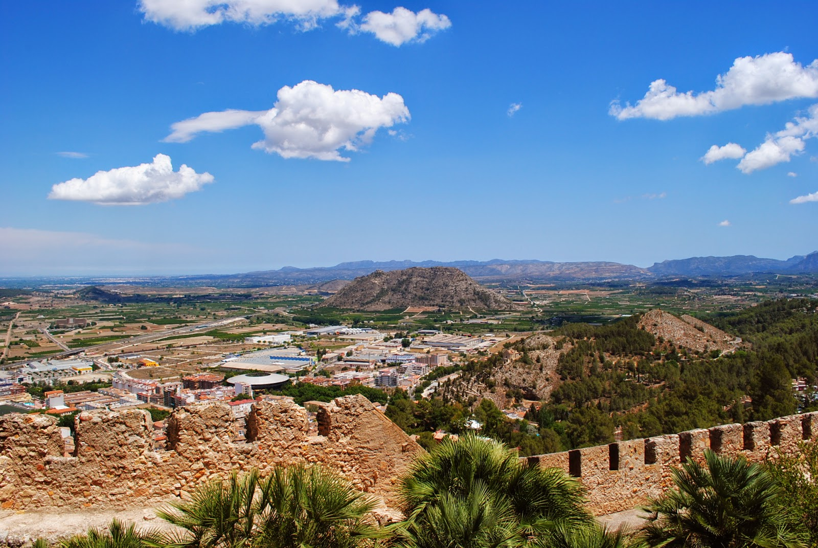 vistas desde el castillo de xàtiva