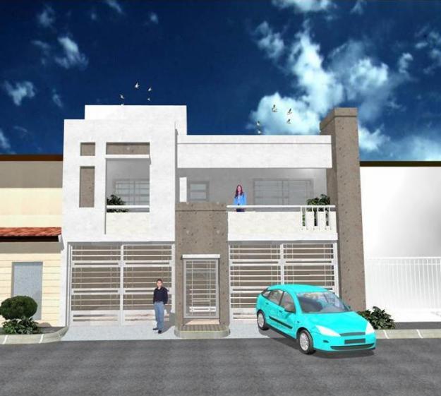 Fachada de casas moderna con balcon fachada con balcon for Disenos de puertas para casas modernas