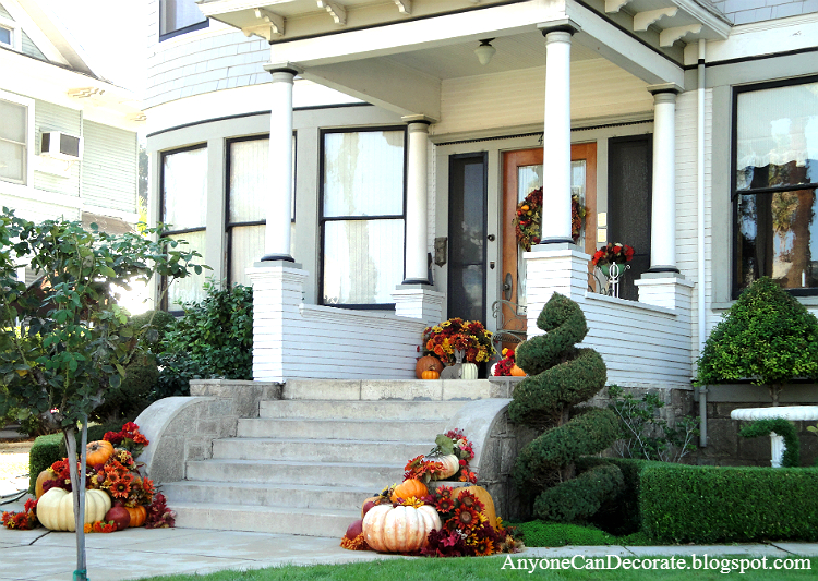 Anyone Can Decorate Fall Front Porch Ideas 2012