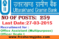 Uttarakhand Gramin Bank recruitment+govtjobs+bank jobs+notifications