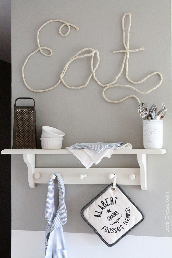 How to make rope letters love grows wild for How to make a rope wall