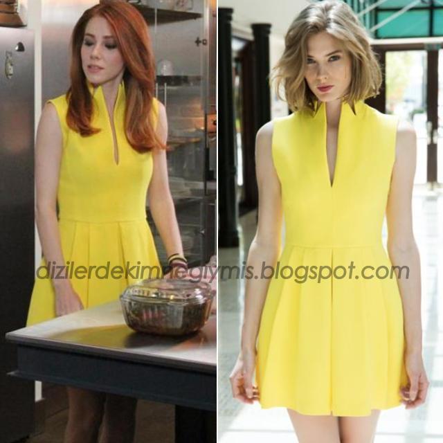 Elçin Sangu Sarı Elbise