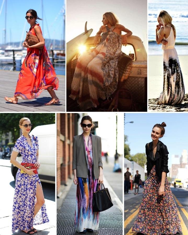 print maxi dress, street stlyle