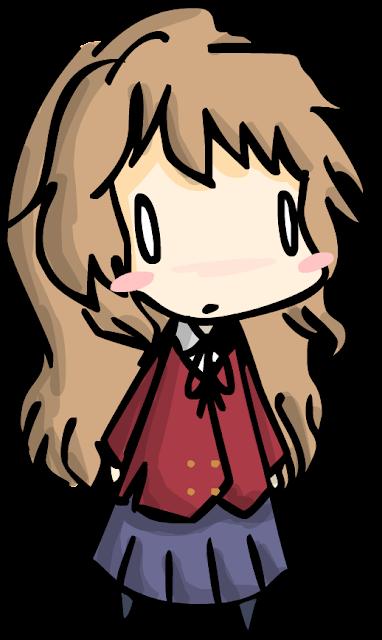 Aisaka Taiga Toradora! desenho colorido