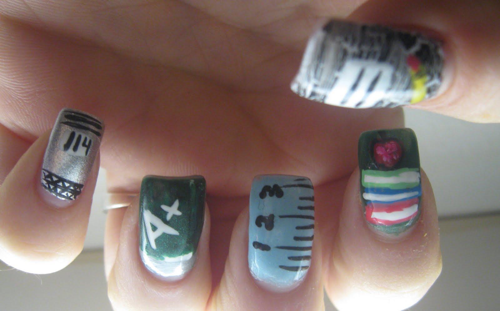 Princess Polish Nail Art Back To School