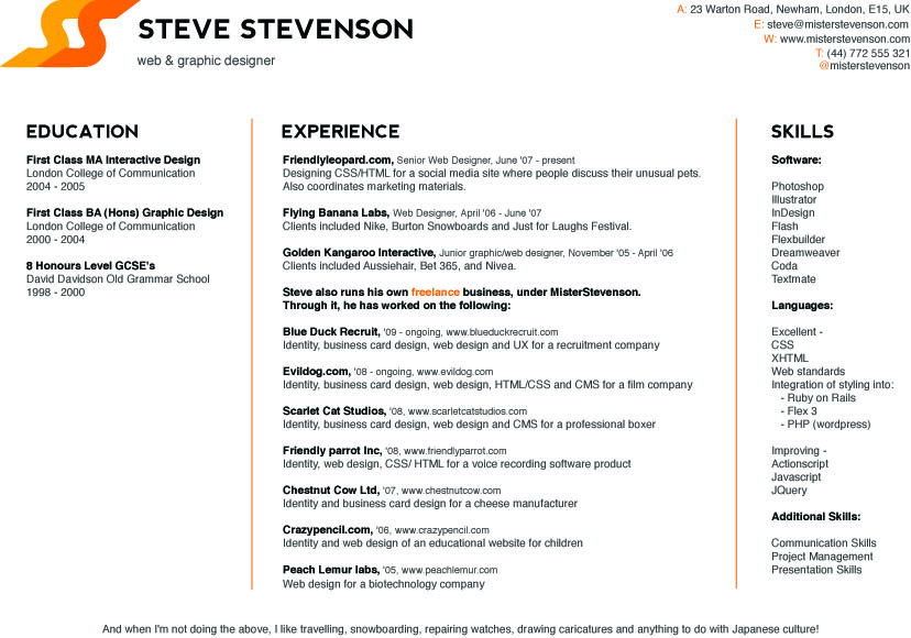 Resume Website - Sample Free Resume Website, Best Career Free Resume ...