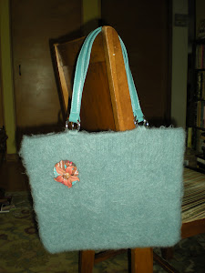 Blue Felted Bag