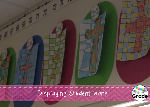 Displaying student work in an easy to change area