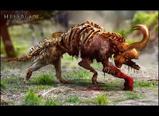 Hellblade Demon Wolf PS4 Game Desktop Wallpaper