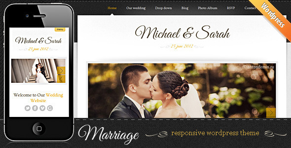 ThemeForest - Marriage - Responsive Wedding WordPress Theme