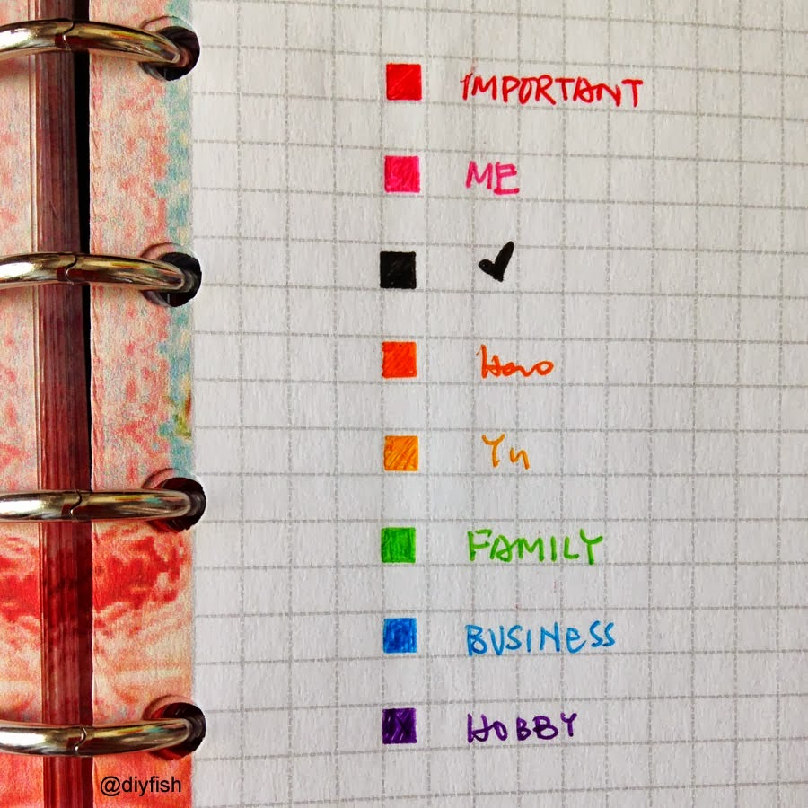 Plannerpeople just a hint or a splatter of color for Color coding planner